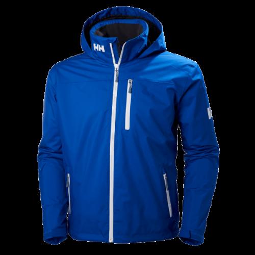 Men's Helly Hansen Crew Midlayer Hooded Jacket Waterproof Blue Trailblazers Ireland