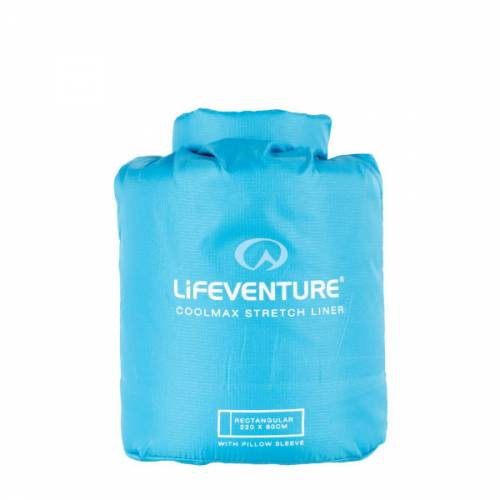 Lifeventure Coolmax Stretch Sleeping Bag Liner Rectangular Adult Hiking Camping Travelling Cool Anti Odour Hygeinic Trailblazers Ireland Blue
