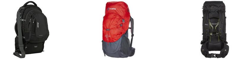Backpacking and travelling rucksacks and backpacks, camping and hiking Ireland