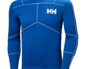 men's helly hansen hh lifa active crew baselayer active warm dry insulated lightwieght blue