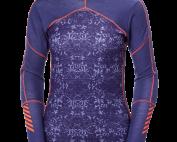 womens helly hansen hh lifa merino crew baselayer warm insulated wicking lavender purple