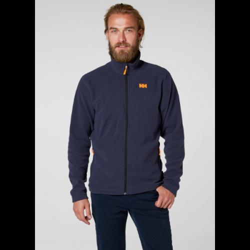 men's helly hansen daybreaker fleece jacket full zip 994 graphite blue warm polartec