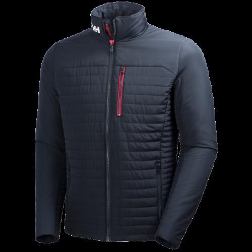 men's helly hansen crew insulator jacket warm primaloft insulated navy