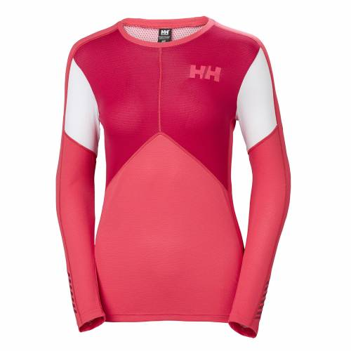 womens helly hansen hh lifa active crew baselayer warm insulated wicking graphite blue grey red