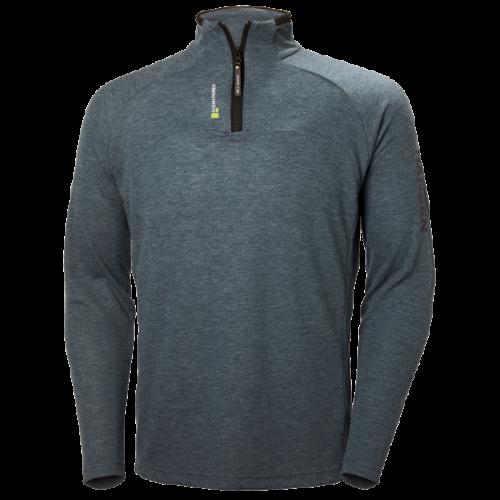 Mens Helly Hansen HP 1/2 Zip Pullover Grey Navy Trailblazers Fleeces