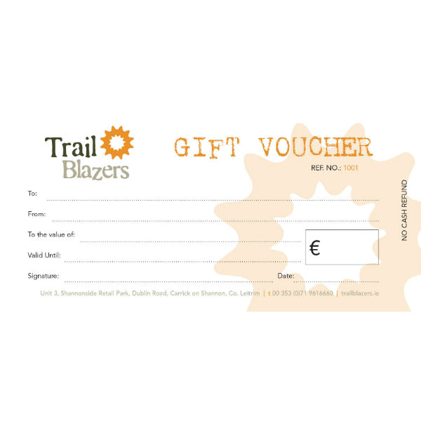 trailblazers gift vouchers christmas birthday present cycling hiking running kayaking
