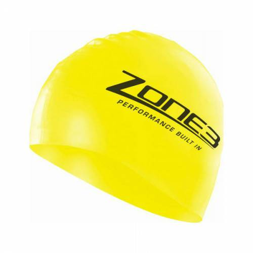 Zone 3 Hi-Vis Silicone Swim Cap