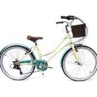 "bentini florida 24"" girls bike cycling old fashioned town bike vintage dutch"