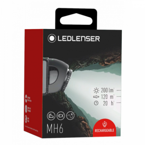 led lenser mh6 rechargeable headlamp outdoor light hiking camping hunting fishing trails