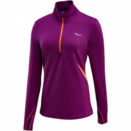 women's saucony run strong sportop running baselayer training warm purple