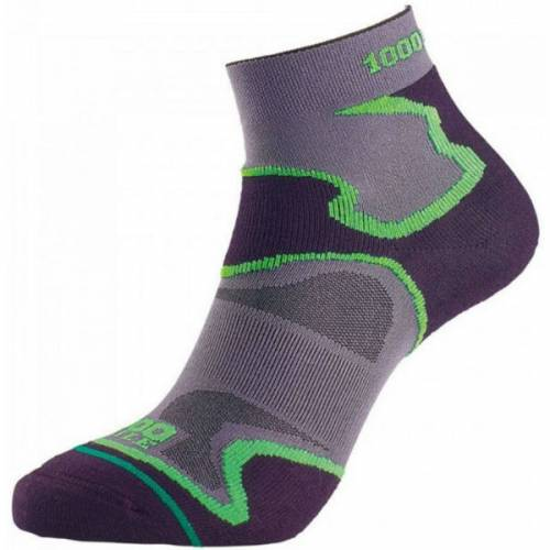 1000 mile fusion anklet black men's sock