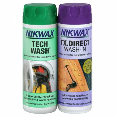 Nikwax Tech Wash Plus TX Direct Wash-In Twin Pack