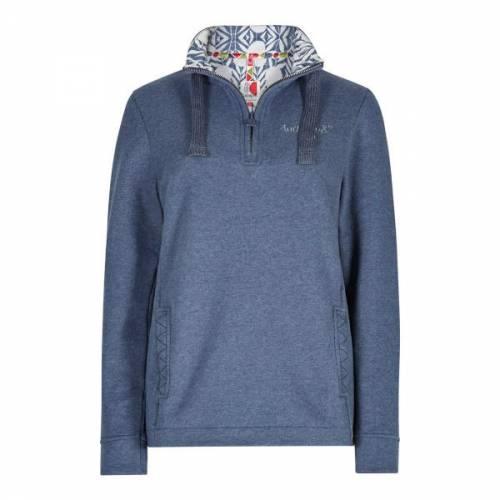 Weird Fish Bina 1/4 Zip Print Lined Sweatshirt