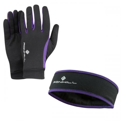 ronhill vizion heandband & Glove set running