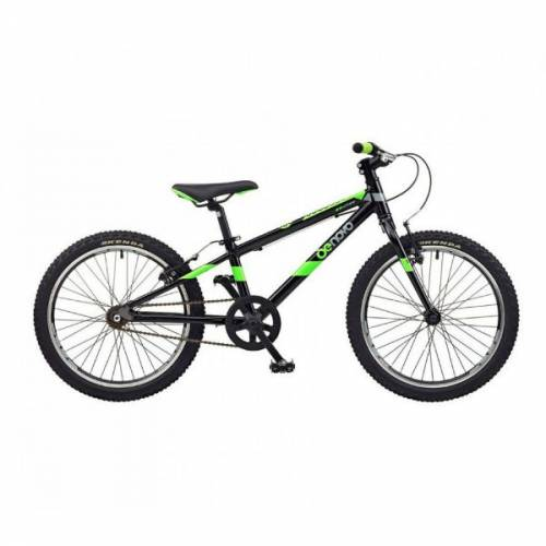Do Novo D20 boys bike 20 inch black green